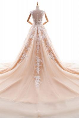 Champagne Brautkleider A Linie | Hochzeitskleider Spitze Online_3