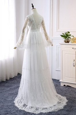 Gorgeous wedding dresses with sleeves | Simple wedding dresses online_3