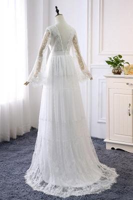 Wunderschöne Brautkleider mit Ärmel | Schlichte Hochzeitskleider Online_3