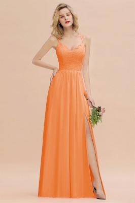 Coral Brautjungfernkleider Lang Günstig   Hochzeitsgäste Kleider_15