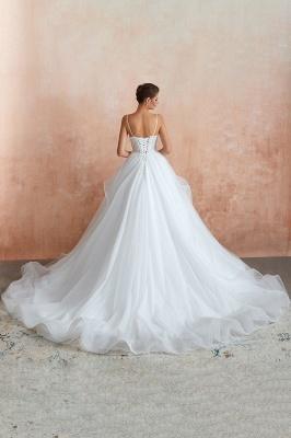 Brautkleid A Linie Spitze Rückenfrei | Schöne Hochzeitskleider_10