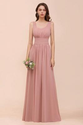 Schöne Brautjungfernkleider Lang Altrosa | Kleider für Brautjungfern_1
