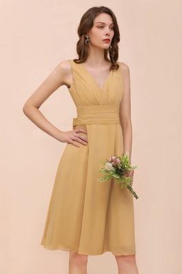 Kurze Brautjungfernkleider Günstig | Etuikleider Chiffon Kleider_6
