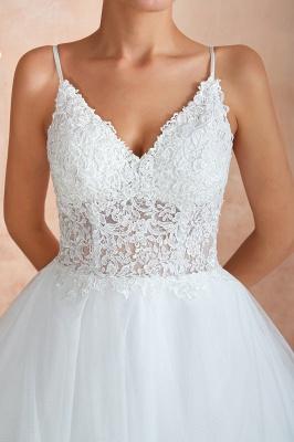 Brautkleid A Linie Spitze Rückenfrei | Schöne Hochzeitskleider_11