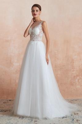 Schlichte Hochzeitskleider A Linie | Elegante Brautkleider Online Kaufen_4