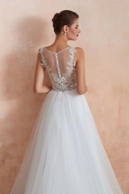 Schlichte Hochzeitskleider A Linie | Elegante Brautkleider Online Kaufen_11