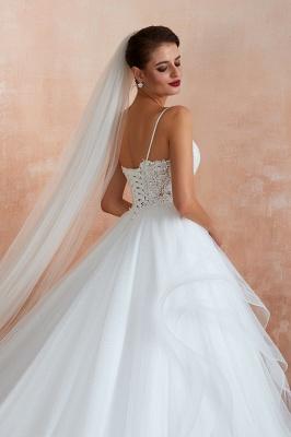 Brautkleid A Linie Spitze Rückenfrei | Schöne Hochzeitskleider_8