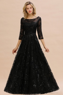Evening dress long black | Prom dresses with sleeves_5