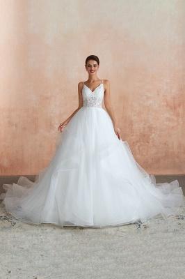 Brautkleid A Linie Spitze Rückenfrei | Schöne Hochzeitskleider_5