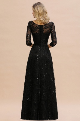 Evening dress long black | Prom dresses with sleeves_4