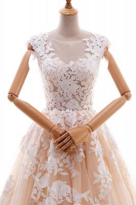 Champagne Brautkleider A Linie | Hochzeitskleider Spitze Online_4