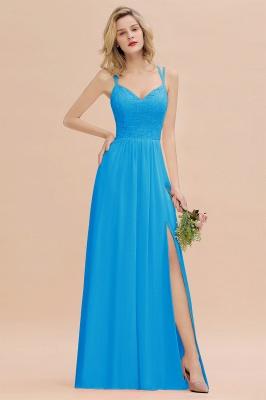 Coral Brautjungfernkleider Lang Günstig   Hochzeitsgäste Kleider_25