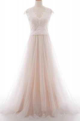 Elegante Brautkleider A linie | Hochzeitskleider Spitze Bodenlang_1