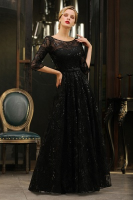 Evening dress long black | Prom dresses with sleeves_9