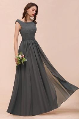 Brautjungfernkleider Lang Dunkel Grau | Kleider Für Bautjungfern_5