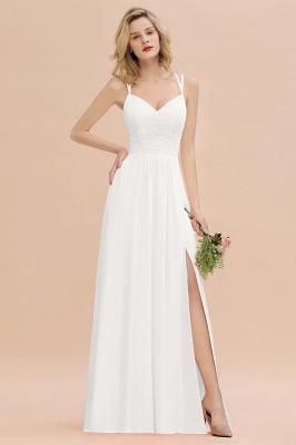 Coral Brautjungfernkleider Lang Günstig   Hochzeitsgäste Kleider_1