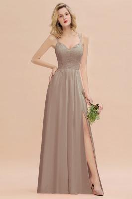 Coral Brautjungfernkleider Lang Günstig   Hochzeitsgäste Kleider_16