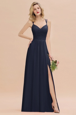 Coral Brautjungfernkleider Lang Günstig   Hochzeitsgäste Kleider_28
