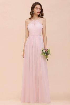 Schicke Brautjungfernkleider Lang Rosa   Chiffon Kleider Günstig_8