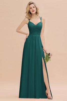 Coral Brautjungfernkleider Lang Günstig   Hochzeitsgäste Kleider_33