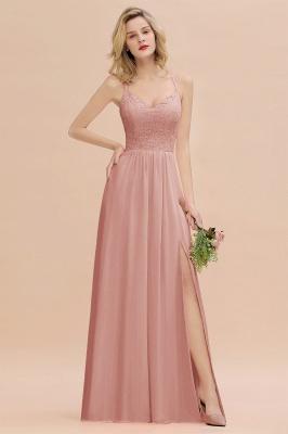 Coral Brautjungfernkleider Lang Günstig   Hochzeitsgäste Kleider_50