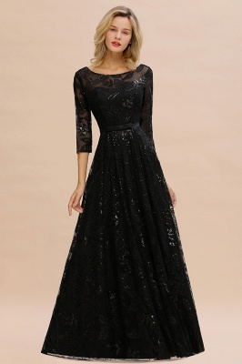 Evening dress long black | Prom dresses with sleeves_7