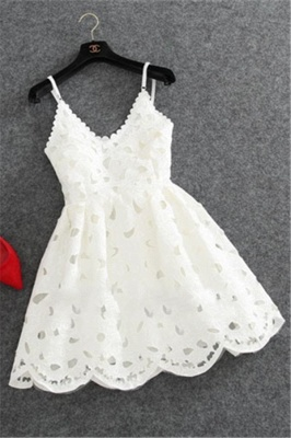 Designer Black White Cocktail Dresses Short Lace Mini Evening Dresses Party Dresses_2