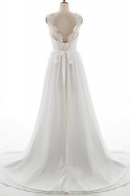 Elegante Brautkleider V Ausschnitt | Hochzeitskleid mit Spitze_3