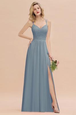 Coral Brautjungfernkleider Lang Günstig   Hochzeitsgäste Kleider_40