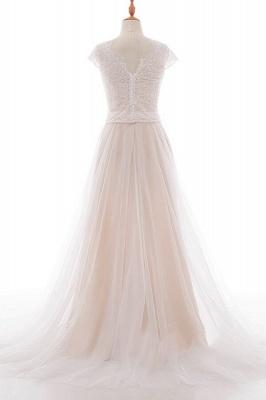 Elegante Brautkleider A linie | Hochzeitskleider Spitze Bodenlang_3