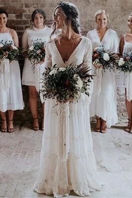 Wunderschöne Brautkleider mit Ärmel | Schlichte Hochzeitskleider Online_1