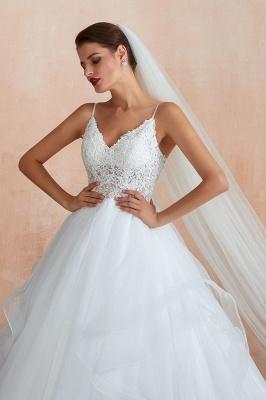Brautkleid A Linie Spitze Rückenfrei | Schöne Hochzeitskleider_7
