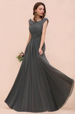 Brautjungfernkleider Lang Dunkel Grau | Kleider Für Bautjungfern_4