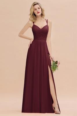 Coral Brautjungfernkleider Lang Günstig   Hochzeitsgäste Kleider_10