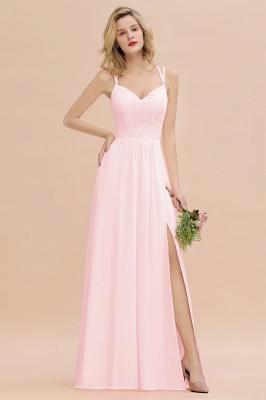 Coral Brautjungfernkleider Lang Günstig   Hochzeitsgäste Kleider_3