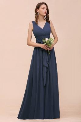 Grau Brautjungfernkleider Lang Günstig   Chiffon Kleider Hochzeitsparty_7