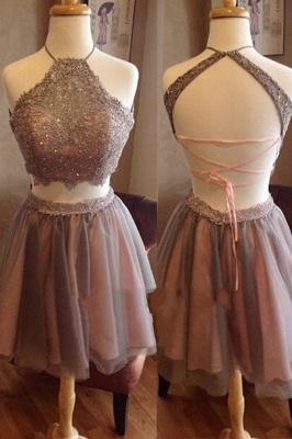2 dividers short prom dresses cocktail dresses organza a line evening wear_1