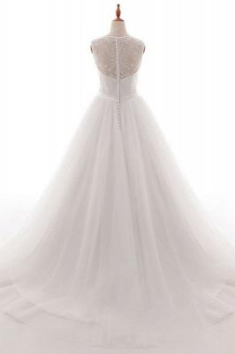 Wedding dresses v neckline | Simple wedding dress A line_3