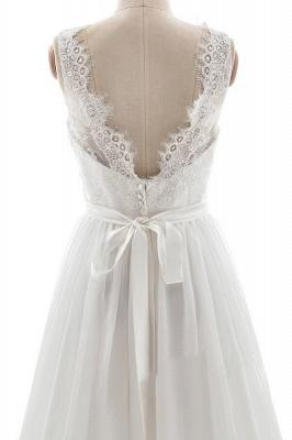 Elegante Brautkleider V Ausschnitt | Hochzeitskleid mit Spitze_6