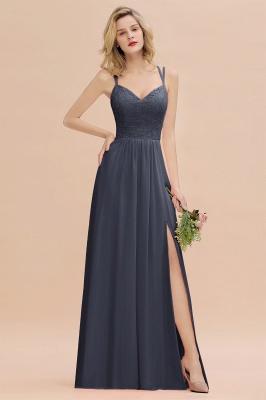 Coral Brautjungfernkleider Lang Günstig   Hochzeitsgäste Kleider_39
