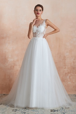 Schlichte Hochzeitskleider A Linie | Elegante Brautkleider Online Kaufen_3