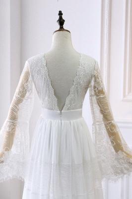 Wunderschöne Brautkleider mit Ärmel | Schlichte Hochzeitskleider Online_5