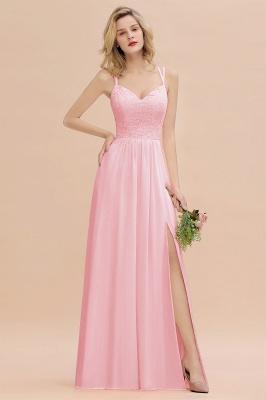 Coral Brautjungfernkleider Lang Günstig   Hochzeitsgäste Kleider_4