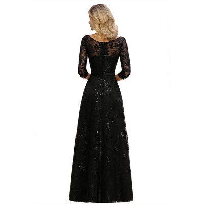 Evening dress long black | Prom dresses with sleeves_13