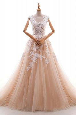 Champagne Brautkleider A Linie | Hochzeitskleider Spitze Online_1