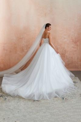 Brautkleid A Linie Spitze Rückenfrei | Schöne Hochzeitskleider_12