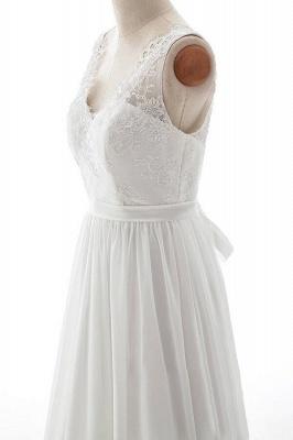 Elegante Brautkleider V Ausschnitt | Hochzeitskleid mit Spitze_5