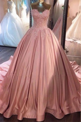 Designer Pink Quinceanera Dresses 2021 With Lace Cheap Prom Dresses Online_1