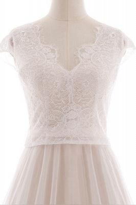 Elegante Brautkleider A linie | Hochzeitskleider Spitze Bodenlang_6