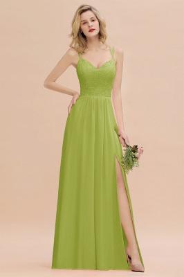 Coral Brautjungfernkleider Lang Günstig   Hochzeitsgäste Kleider_34